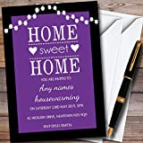 Purple String Lights Personalized Housewarming Party Invitations
