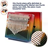 Kalimba,17 Keys Thumb Piano,Mahogany Wood Finger