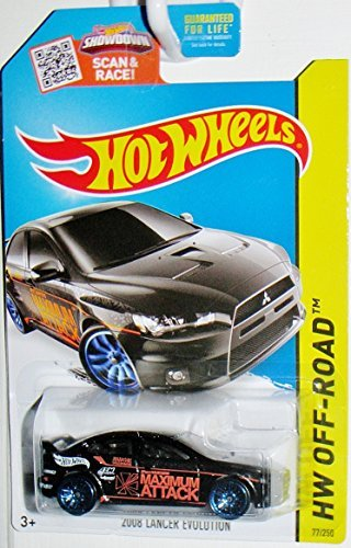 Hot Wheels, 2015 HW Off-Road 2008 Mitsubishi Lancer Evolution [Black] 77/250