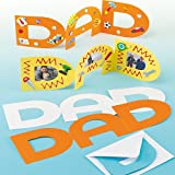 Baker Ross Dad Father's Day Greeting Card Blanks for Children to Colour in Decorate Personalise (Pack of 8)
