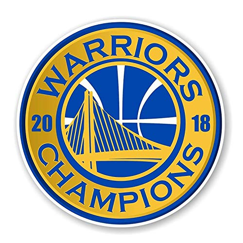 Bag Poster Vinyl (Golden State Warriors NBA Champions 2018 Round Vinyl Poster | 4 Size Sticker Die Cut Mini Helmet | Golden State Warriors NBA Champions 2018 Round Wall Decal (5