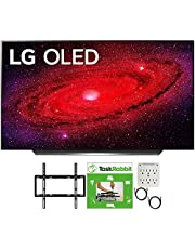 LG OLED65CXPUA 65 inch CX 4K Smart OLED TV with AI ThinQ 2020 Bundle with TaskRabbit Installation Services + Deco Gear Wall Mount + HDMI Cables + Surge Adapter