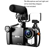 Phone Lens Adapter & Rig System, Ulanzi E-IMAGE Magic Q30 Lens Mount Rig System for Smartphones, Interchangeable Lens, Adjustable Camera Housing, Cold Shoe and Tripod Mount