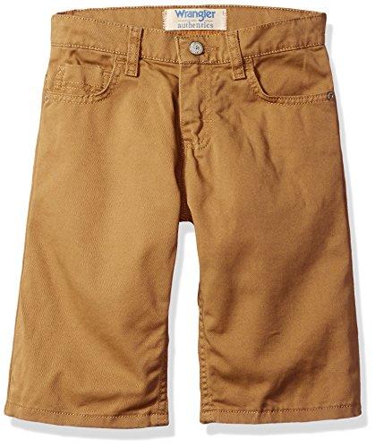 Wrangler Authentics Big Boys' Active Flex 5-Pocket Short, Dirt, 10 ()