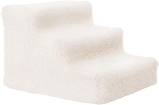 IG Taburete de 3 escalones para niños para camas altas y sofá, escaleras para perros pequeños Escalera para mascotas Pasos para gatos medianos,Blanco: Amazon.es: Bricolaje y herramientas