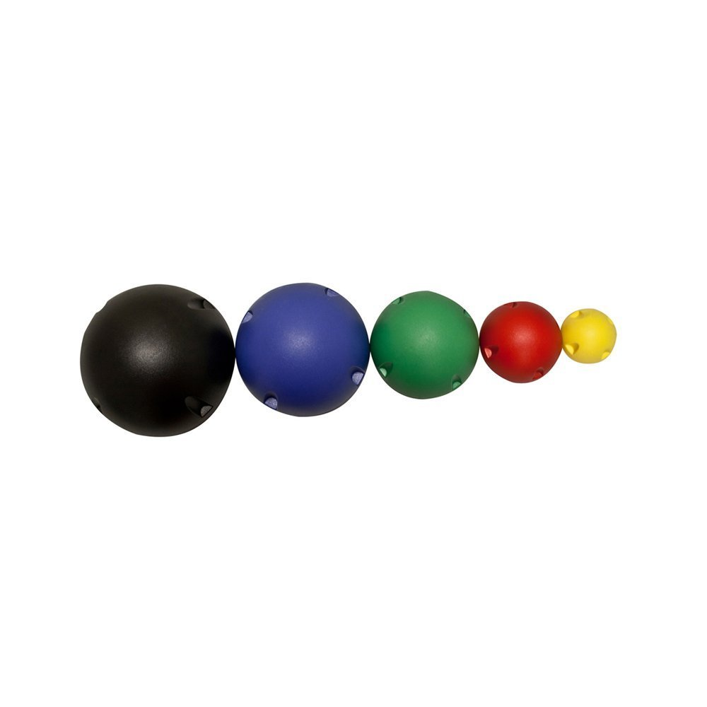 CanDo 10-1765, 5-Ball Set, 1 Each Yellow Through Black, No Rack by Cando