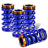 Civic / CRX / Del Sol / Integra Aluminum Scaled Coilover Kit (Blue Springs Blue Sleeves)