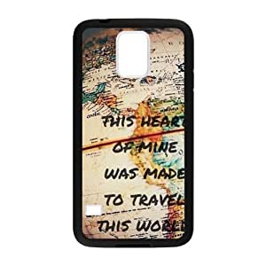 Canting_Good Retro world map Custom Case Shell Skin for Samsung Galaxy S5 (Laser Technology)