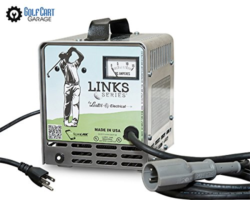48v 13amp Links Series Golf Car Battery Charger Molded 3-pin Club Car Round Connector by Links Series