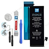 Battery for iPhone 5s Replacement Li-Ion 3.8V 1560mAh 5.92Wh + Anti-Static Adhesive Glue Sticker 2 x Pry + 2 x screwdrivers by MMOBIEL