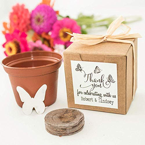 - Personalized Butterfly Themed Wedding & Party Favors - Mini Seed Paper Butterfly Garden Gifts (Set of 12)