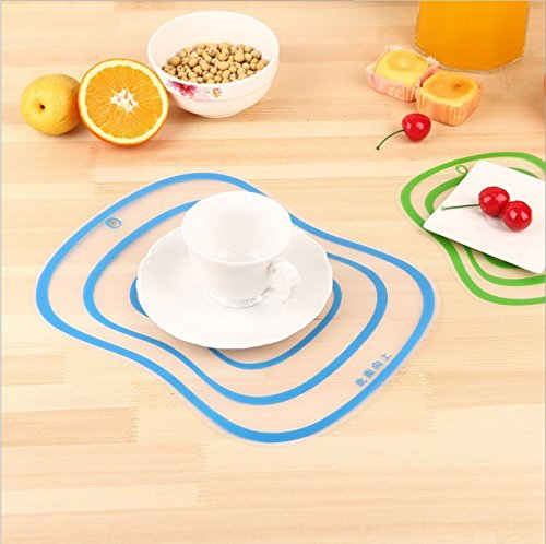 Purchase 1 Pc Home Kitchen Transparent Plastic Resin Fruit Mats Cutting Board 30.5*23.5cm wholesale
