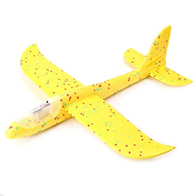 Haayward Foam LED Night Airplane, Inertial Hand Launch Throwin, Glider Aircraft Toy, Plane Model, Outdoor Educational Toys: Toys & Games [5Bkhe0306048]