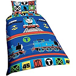 Thomas The Tank Engine & Friends Childrens Boys Reversible Twin Duvet Cover Set (Twin) (Multicolour)