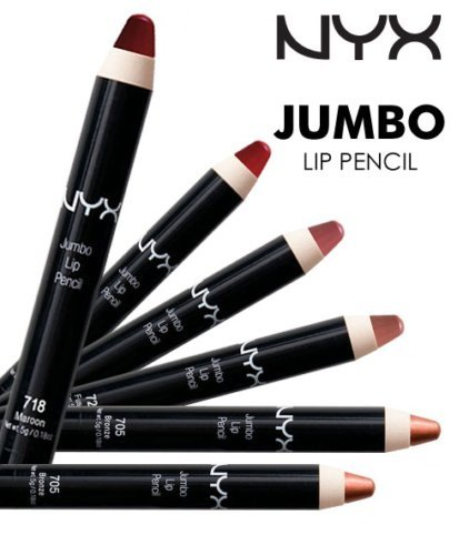 (PACK OF 6) NYX COSMETICS JUMBO LIP PENCIL - BROWN CAFE -  NYX COSMETICS MAKEUP