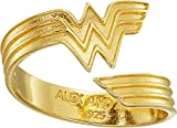 Alex and Ani Women's Wonder Woman Ring Wrap 14k Gold Plated One Size