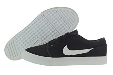 uk availability dcdfe ebead Nike Toki Low Canvas (PS) 739922-001 Black White 1 M US