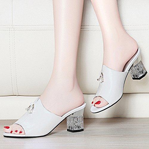 sandales blanche et chaussures femme White hauts Talons foret fraîche de les à HUAIHAIZ féminin chaussures Escarpins soirée hauts Sandales de talons l'eau x6488qwAY