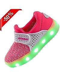 Shinmax LED Shoes Light up Shoes CE certification 7 Colors Sport Shoes Led Sneaker for Women&Men&Kids