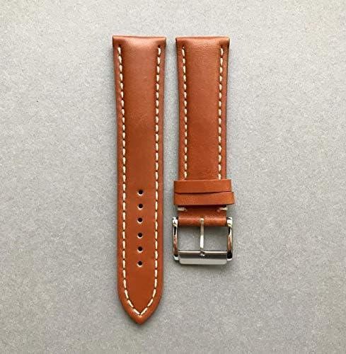 20mm Bracelet de Montre Marron Cuir de Veau Italien Fait pour Breitling Faite à la Main en Italie