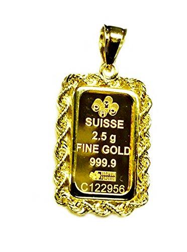 Gold Ingot Pendant - 3