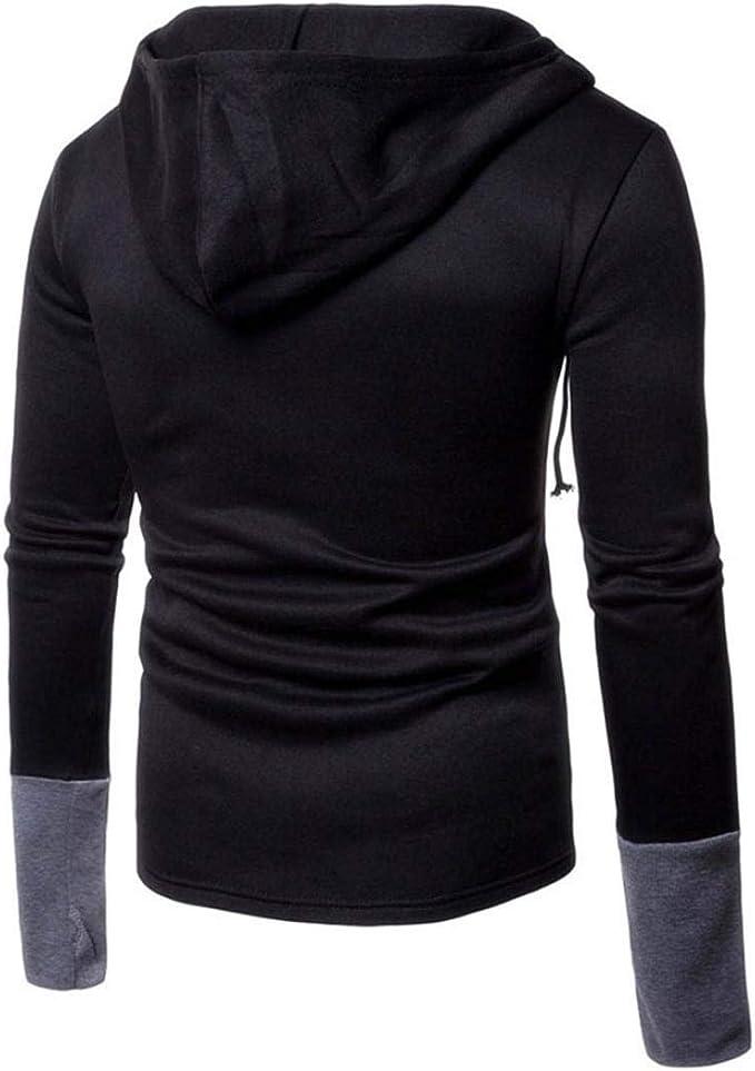 Sannysis Sweatshirts for Men,Fashion Personality Mens Casual Slim Long-Sleeved Printed Shirt Top Blouse