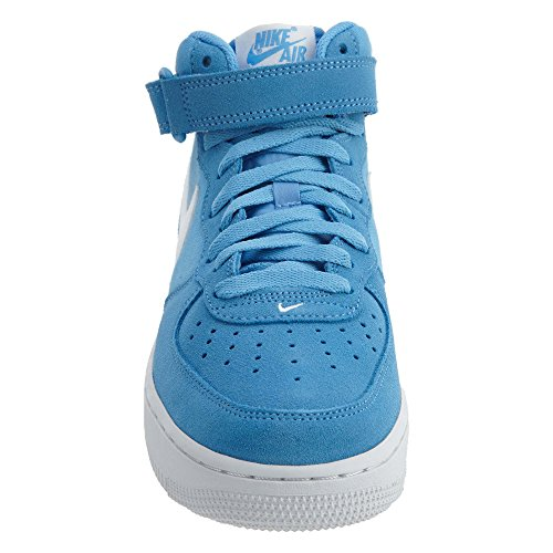 Nike Air Force 1 Mens Metà Scarpe Da Basket Università Blu / Bianco-nero
