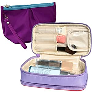 Amazon Com Kilofly Double Sided Make Up Cosmetic Bag