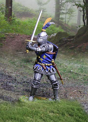 Collectors Showcase Medieval Agincourt Knights CS01018 English Knight with Sword 1:30 Scale Pewter