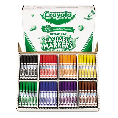 Crayola 200ct Washable Marker Classpack (Barrel Color May Vary) | Computers And Accessories