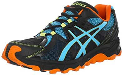 ASICS Men's GEL-Scout Trail Running Shoe,Black/Horizon Blue/Orange (8.5, Black/Horizon Blue/Orange)