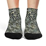 Womens Army Camouflage Casual Athletic Crew Thick Tube Short Compression Socks Cold Weather