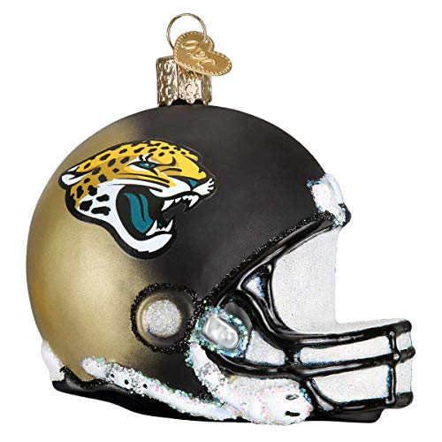 Personalized Jacksonville Jaguars Helmet Glass Blown Christmas Ornament for Tree by Old World Christmas