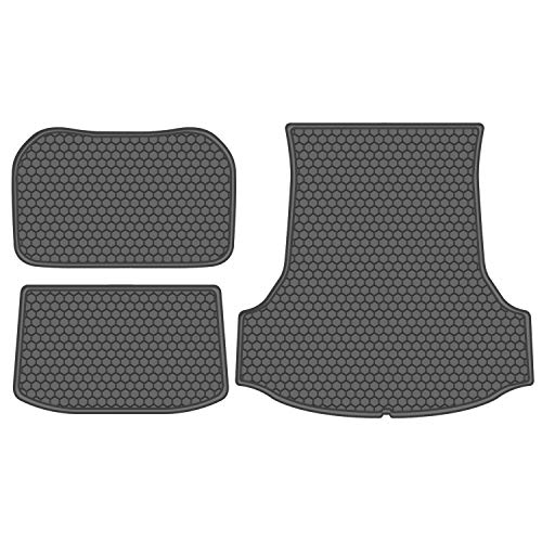 biosp Compitable for 2017 2018 2019 Tesla Model 3 Front and Rear Car Carpet Cargo Mat Trunk Liner Tray Floor Mat Liner