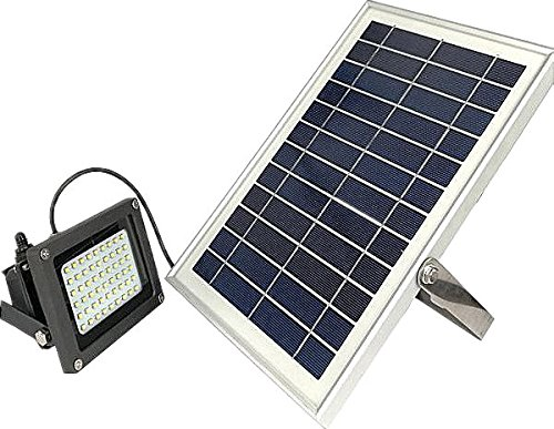 MP.S Wireless Solar Flood Light – Powerful Battery, 54 pc LED Panel – IP65 Waterproof Rating – Eco Friendly – Ideal as Lawn, Garden Street Outdoor - Village Outlet Street