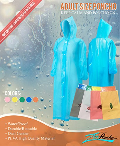 Rain Poncho for Adults|Disposable|Emergency|Reusable|With Sleeves for Women/for Men/Unisex for Outdoors/Disney Rain Poncho for Theme Parks