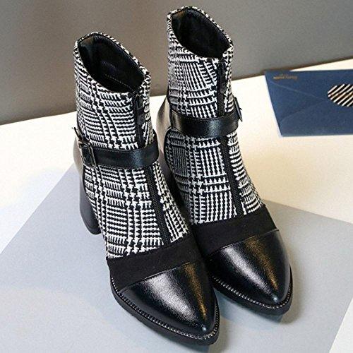 Zanpa Booties Big Boots Black Zipper Martin Women Fashion Sizes rqvXr