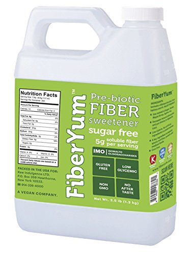 FiberYum IMO Syrup - 2.5lb (Quart) All Natural Low Calorie Sugar- & Corn-Free
