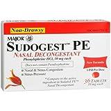 MAJOR Sudogest PE Nasal Decongestant 36 TB - Buy Packs and SAVE (Pack of 5)