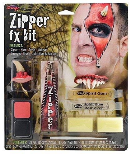 Mens Ladies Devil Werewolf Dead Zombie Halloween Special Effects Bloody Zipper Face Paint Make Up Kit -