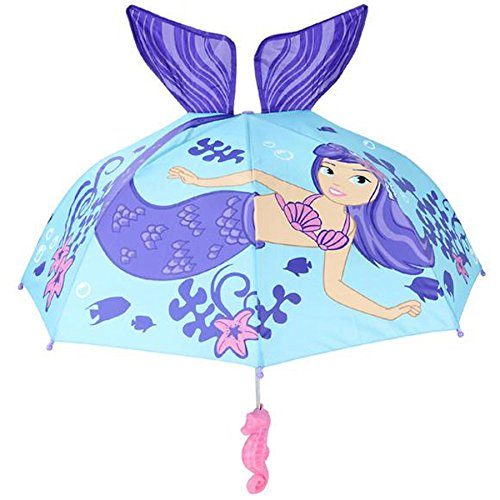 Kids Mermaid Umbrella Child's Size 30