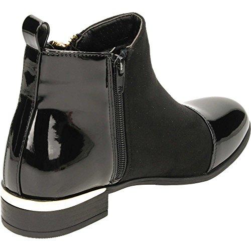 Zip Chelsea Krush Women's Flat Black Suede Ankle Boots 4CYRwSYXq