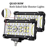 #7: Quad Row Side Shooter LED Pods OFFROADTOWN 5'' 264W LED Light Bar Off Road Driving Light LED Cubes Fog Lights Waterproof for Truck Jeep Motorcycle Boat, 3 Year Warranty