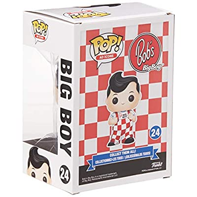 Funko  Pop! Ad Icons: Bob's Big Boy - Bob (New Pose), Multicolor(Packaging May  Vary): Toys & Games