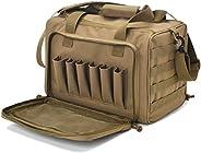 Tactical Gun Shooting Range Bag, Deluxe Pistol Range Duffle Bags