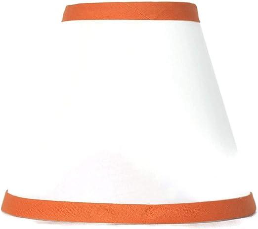 6-inch Hardback,Clip on Urbanest White Cotton Chandelier Lamp Shade Pink Trim
