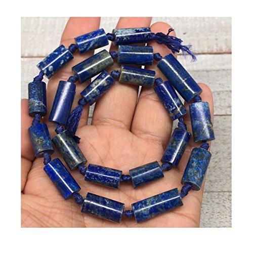 Tube Lapis Beads Lazuli (56.3g, 13mm-23mm, 21 beads, Lapis Lazuli Tube Shape Beads Strand from Afghanistan 16
