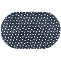 VHC Brands Multi Star Navy Cotton Rug Oval 36x60