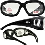 Outfitter clear motorcycle glasses. Over-Prescription glasses