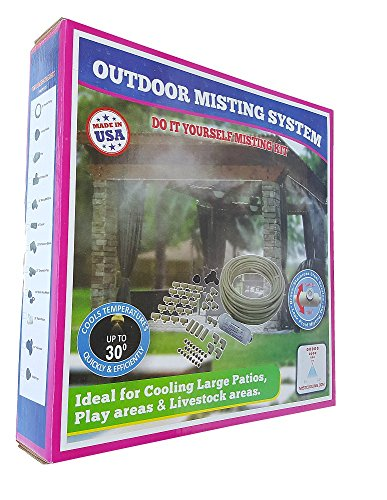 Patio Misting System - Retail Box Misting System -Customize and build your own misting system - 3/8 Inch Do It Yourself Misting System (125 Ft- 30 Nozzles) by Mistcooling